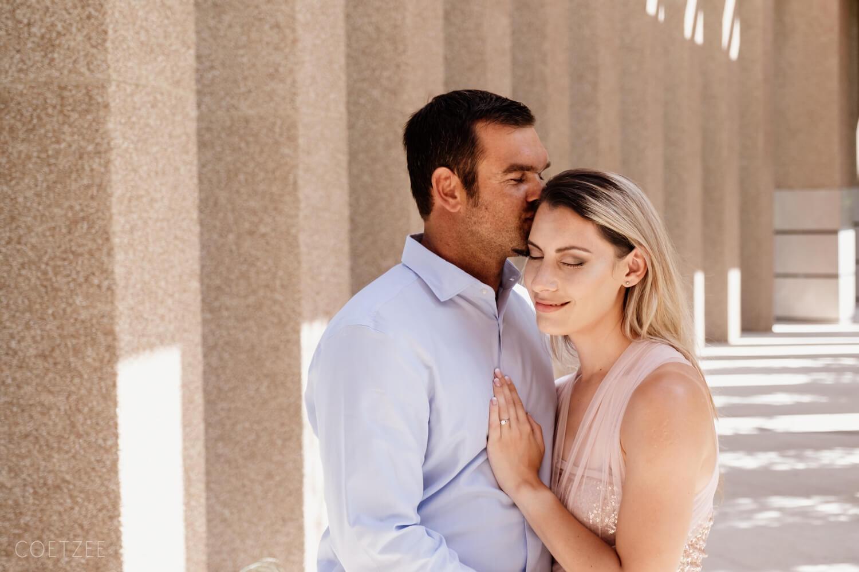 romantic engagement man kiss woman